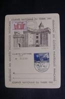 FRANCE - Carte Lettre De La Journée Du Timbre De Perpignan En 1943 Avec Vignette - L 38112 - 1921-1960: Modern Period