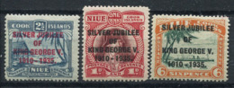 Niue 1935 Mi. 52-54 Nuovo * 100% Giubileo D'argento, Re Giorgio V - Niue