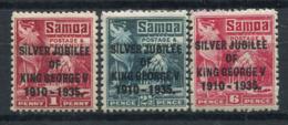 Samoa 1935 Mi. 72-74 Nuovo * 100% Giubileo, Re Giorgio V - Samoa