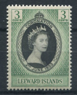 Isola Leeward 1953 Mi. 116 Nuovo ** 100% 3 C, Coronazione, Regina Elisabetta II - Leeward  Islands