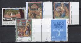 Cipro 1988 Mi. 706-710 Nuovo ** 100% Turismo, Natale, I Diritti Umani - Cipro (Repubblica)