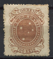 Brasile 1890 Mi. 92 Nuovo * 40% 700 R, Stemma - Nuovi