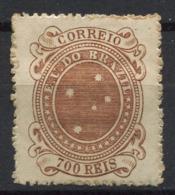 Brasile 1890 Mi. 92 Nuovo * 40% 700 R, Stemma - Brasile