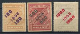Brasile 1898 Mi. 115,118,122 Senza Gomma 40% La Stemma - Brésil