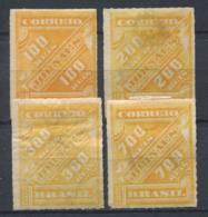 Brasile 1889 Mi. 70-72, 74 Senza Gomma 40% JORNAES - Brésil