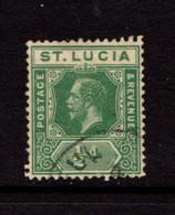 SAINT  LUCIA    1912    1/2d  Green    USED - St.Lucia (...-1978)