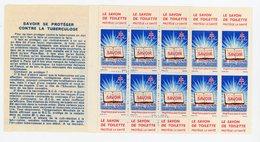 FRANCE - CARNET DE 10 TIMBRES POUR LA 29è CAMPAGNE NATIONALE CONTRE LA TUBERCULOSE 1959 (PUB: NESTLÉ ) - Antituberculeux