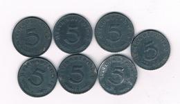 LOT 5 PFENNIG 1940-1944 DUITSLAND /6002/ - 1 Reichspfennig