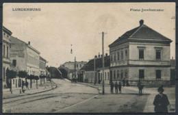Lundenburg 1914 Cartolina 100% Animata 1 Francobollo, Franz Joseph Strasse - Repubblica Ceca