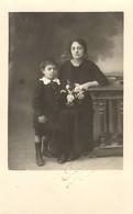 CORSE -  Carte-photo Gravée J. Moretti, Bastia - Jeune Veuve De Guerre Et Son Enfant - Bastia