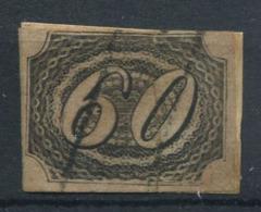 Brasile 1844 Mi. 6 Usato 20% Cifre, 60 R - Brésil