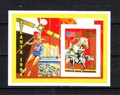 Mali  -   1996. Equitazione. Raro MNH Minisheet. Horse Riding. Rare - Estate 1996: Atlanta