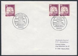 Deutschland Germany 1976 Brief Cover - Ab 26.9.1976 In 3Std.23Min - Berlin - Spandau - Hamburg - Eisenbahn / Railway - Treinen