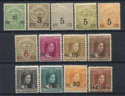 Lussemburgo 1915 Mi. 107-119 Nuovo ** 100% Maria Adelaide - 1914-24 Maria-Adelaide
