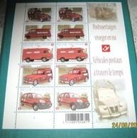 3923/27** Postvoertuigen Vroeger En Nu - 2009- LA POSTE EN MOUVEMENT A TRAVERS LE TEMPS - Belgium