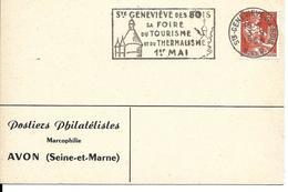Oblitération SECAP Sainte Geneviève Des Bois, Thermalisme, Foire, Tourisme, 1er Mai, Château, Clocher - Hydrotherapy