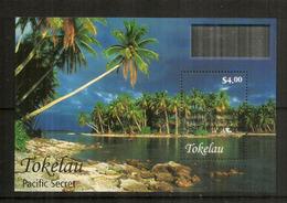 """Tokelau Islands """"Pacific Secret"""" Tropical Coral Atolls. Bloc-feuillet Neuf ** Nr  44. Année 2004. Haute Faciale $ 4,00 - Tokelau"""
