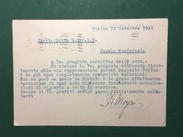 Cartolina Prof. F. Morgoni - Corso Palermo N.32 - Torino - 1912 - Cartoline