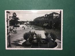 Cartolina Novi Ligure - Portici Piazzale Stazione - 1940 - Alessandria