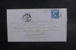 FRANCE - Lettre De  Bourg-Madame Pour Marseille En 1864, Affranchissement Napoléon GC 567 - L 38129 - Marcofilie (Brieven)