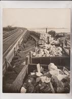 THE LIME TRAINE LIMESTONE INDUSTRY ROCKLAND MAINE CHEMIST  USA  MINING MINE MINA  25*20CM Fonds Victor FORBIN 1864-1947 - Profesiones