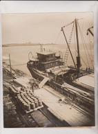THE LIME LIMESTONE INDUSTRY ROCKLAND MAINE USA SAILING VESSEL   MINING MINE MINA  25*20CM Fonds Victor FORBIN 1864-1947 - Profesiones
