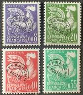DF40266/578 - 1960 - TYPE COQ GAULOIS - PREO - N°119 à 122 NEUFS** (SERIE COMPLETE) - Cote : 45,00 € - Vorausentwertungen