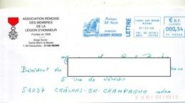 Lettre Flamme Ema Tours Domaine Laurent Perrier Entete Membre Legion D'honneur - Poststempel (Briefe)