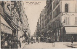Cpa 75 PARIS XIV Rue De Vanves ( Raymond Losserand ) à L'avenue Villemin Animtion 1926 - Arrondissement: 14