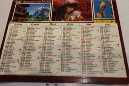ALMANACH DU FACTEUR Calendrier Des Postes 1999, SEINE-MARITIME, Vues Diverses Sur Carton Dur. 6 Photos. - Calendriers