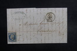 FRANCE - Lettre De Alger Pour Toulon En 1854, Affranchissement Napoléon  - L 38137 - Marcofilie (Brieven)