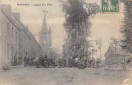 Pluzunet            22        L'Eglise Et La Place              (voir Scan) - Autres Communes