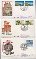 Germany 3 Used FDCs From 1988 - Architecture