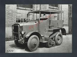 MILITARIA ANCIENNE PHOTO ORIGINALE 17,5X13 ANCIEN VÉHICULE MILITAIRES CAMION A CHENILLES PHOTO KRAAUSS MAFFEI 1928 : - Guerre, Militaire