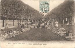 Dépt 89 - PONT-SUR-YONNE - Le Patronage Laïque De Jeunes Filles (de SENS) Après Le Goûter, Sur La Promenade Des Buttes - Pont Sur Yonne