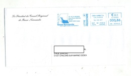 Lettre Flamme Ema Caen Region Basse Normandie - Poststempel (Briefe)