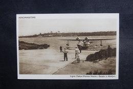 AVIATION - Carte Postale - Ligne Dakar / Pointe Noire - Escale à Abidjan ( Hydravion ) - Aéromaritime - L 38140 - 1919-1938: Between Wars