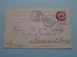 Briefkaart Met STEMPEL > JOS. KOKKEN Brasserie L'AIGLE Rue Van LUPPEN Anvers () Anno 1903 Condé ( Zie/voir Foto 's ) ! - Antwerpen