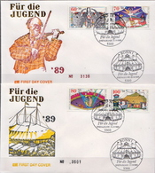 Germany Set On 2 FDCs From 1989 - Circus