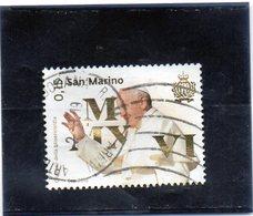 2010 San Marino - Visita Di Papa Francesco - Used Stamps