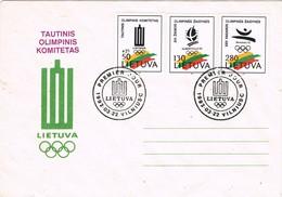 33686. Carta F.D.C. VILNIUS (Lietuva) Lituania 1992. Juegos Olimpicos, Olympic Games - Lituania