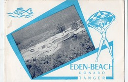 Tanger (Maroc)  Carte  EDEN BEACH  Donabo (PPP19624) - Publicidad