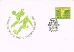 33687. Entero Postal  LITUANIA (Lietuva) 1991. IV Juegos Deportivos Lituanos - Lituania