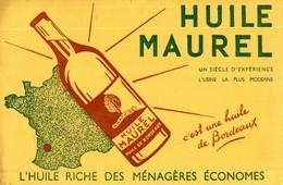 BUVARD HUILE MAUREL  A BORDEAUX - Alimentaire