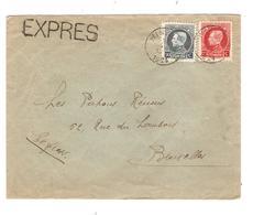 3264/ TP 211-212 Albert Montenez S/L.Exprès C.Winenne 30/6/1924 > BXL - Lettres & Documents