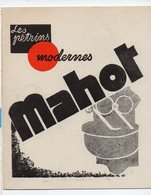 Ham (usine) -Paris (bureaux)  :dépliant Pétrins MAHOT  (PPP19625) - Advertising