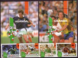 Soccer World Cup 1990 - Footbal - UGANDA - 2 S/S+Set MNH - World Cup