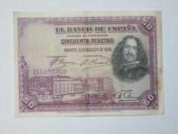 BILLET ESPAGNE. 50 PESETAS 1928. TRES BEL ETAT. - [ 1] …-1931 : Eerste Biljeten (Banco De España)