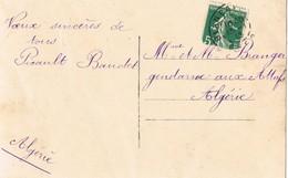 33688. Postal Romantica Vintage BLANCAFORT (Cher) 1913 A Algerie. Pareja Novios - Francia