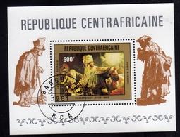 REPUBBLICA CENTRAFRICANA CENTRAFRICAINE CENTRAL AFRICAN REPUBLIC 1981 LE FESTIN DE BALTHAZAR BLOCK SHEET USED OBLITERE' - Repubblica Centroafricana